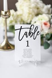 Table Number Chart Wedding Modern Wedding Seating Chart Black And White Table Numbers