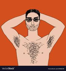 Free picture of hairy chest man
