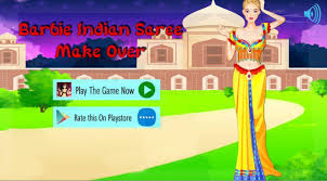barbie indian saree makeover for android free and barbie party make up game