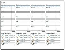 Printable Food Diary Template Daily Intake Log Journal Templates