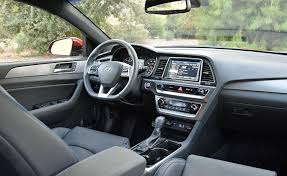 2018 hyundai sonata interior. simple 2018 the sonatau0027s interior doesnu0027t see big changes instead hyundai makes small  improvements here and there with 2018 hyundai sonata e