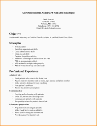 Dental Assistant Resume Objective Free Resume Example And