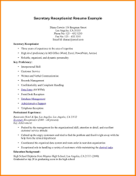 Receptionist Resume Duties Free Resume Example And Writing Download