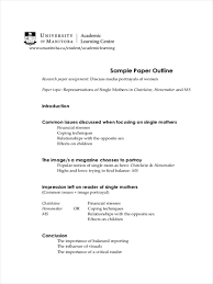 Example Of An Paper Outline Custom Essay Company A One