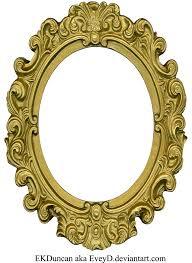vintage frame design png. PlusPng.com Ornate Gold Frame - Oval 1 By EveyD Vintage . Design Png