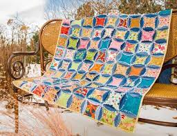 Beautiful Cathedral Window Quilt Patterns: Pillows & More & Recycled Jeans Rag Quilt Craftsy Adamdwight.com