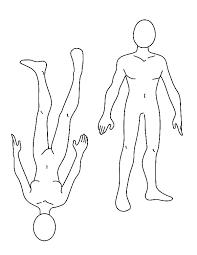 Body Outline Coloring Page Outline Body Parts Chalk Body Outline