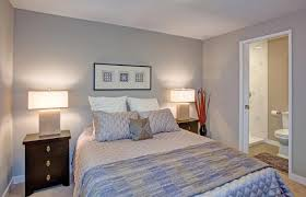 bedding with gray walls
