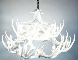 white antler chandeliers pure whitetail cast chandelier modern