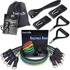TheFitLife <b>Exercise</b> and <b>Resistance Bands</b> Set - Stackable up to 110 ...