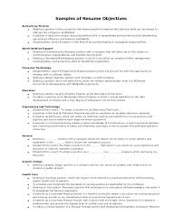 Resume Objectives Accounting Resume Objective Examples Accounting
