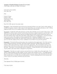 of standard business format cover letter standard cover letter format cover business letter