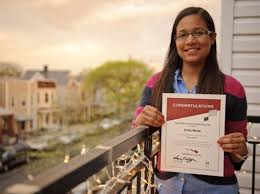 hard work pays off for scholar ny daily news erika marte 17 of van nest was d as one of 1 000 gates