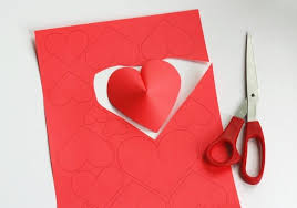 3d paper on 3d paper heart wall art with diy pop out hearts first take construction paper and cut it in a