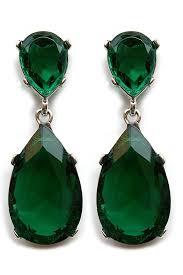 angelina jolie green emerald earring