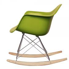 eames rocking chair green. style green plastic retro rocking chair eames h