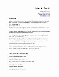 Sample Cover Letters For Employment Lovely Child Care Resume Cover