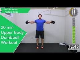 20 minute upper body dumbbell workout