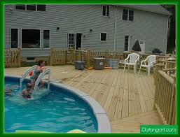above ground pool with deck attached to house. Above Ground Pool Deck Plans Attached To House Round Designs With U