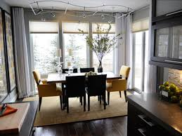 Dining Room:Gorgeous Black And White Dining Set Feat Modern Lighting For Dining  Room Ceiling