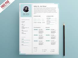 Clean Resume Template Enchanting Clean Resume CV Template PSD Template PSDFreebies