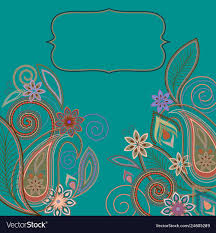 Graphic Design Paisley Card Design Paisley And Flowers Pattern