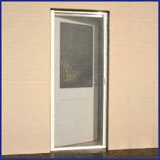 Domestic wind resistant roller fly screen door - made to measure