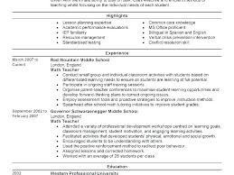 Resume Sample Of Teacher – Universitypress
