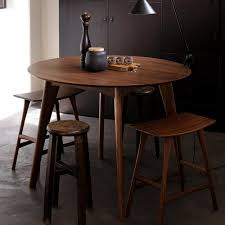 ethnicraft walnut osso round dining table  counter height