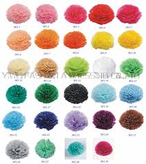 Us 17 0 5 Off 29 Colors Available Paper Green Rose Ball Garlands Wedding As Color Chart 12 Inch 30cm 18piece Lot Decorative Paper Pom Poms In