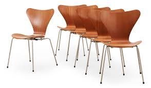 arne jacobsen furniture. A Set Of Six Arne Jacobsen \u0027Series 7\u0027 Teak And Steel Chairs, Fritz Hansen, Denmark 1950\u0027s. - Bukowskis Furniture