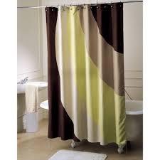 ty pennington style shower curtain retro wave fabric