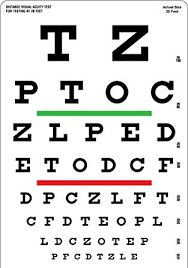 Eye Sight Chart Bexco Snellen Eye Vision Chart For Testing At 20 Feet