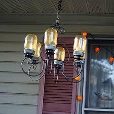 how to make a masonjar chandelier diy craft savedbyloves