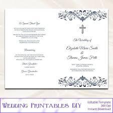Wedding Booklet Template Mass Booklet Template Irish Catholic Funeral Free Wedding