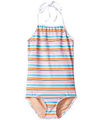 Toobydoo Size Chart Toobydoo Womens One Piece Pink Aqua Stripe Swimsuit Infant Toddler Little Kids Big Kids