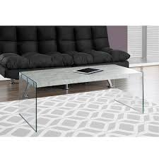 modern glass coffee table. Vegas Contemporary Glass Coffee Table - Grey Cement Modern