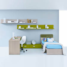 contemporary kids bedroom furniture green. Kids Room Interior Single Furniture In Lime Green And Natural Bed Shelf Writing Desk Contemporary Design Bedroom E