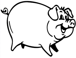 Funny Pig Coloring Page pig template animal templates free & premium templates on coloring book pig