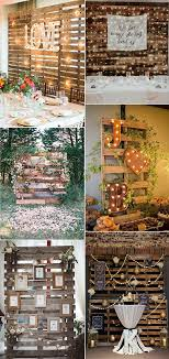 country rustic wooden pallets wedding backdrop ideas