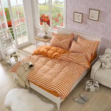 kids orange stripe singledouble bedding set kingqueen with regard to modern residence orange duvet cover king decor