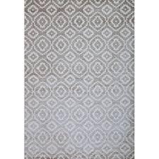 greyson living owen silver grey white viscose area rug 5 3 x