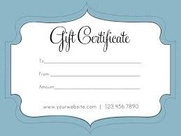 gift certificate for business custom gift certificate template gift voucher certificate template