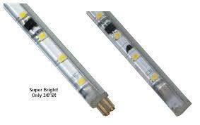 under cabinet lighting led fluorescent light fixtures jesco led slim stix