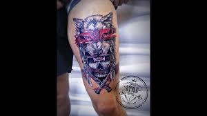 татуировки от Black Style Tattoo волк череп трэш
