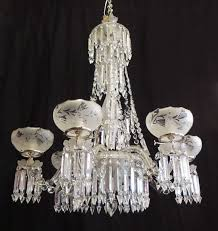 regency 19th c english crystal and silver plate chandelier for