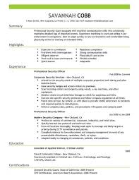 Objectives For Security Guard Resume Fresh Security Guard Resume