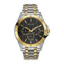 mens watches casual watches for men on jcpenney bulova® mens two tone stainless steel watch 98c120