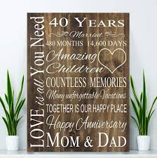 interior design por anniversary gifts for pas 40 year gift ruby wood board wedding