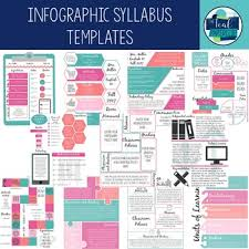 Infographic Creative Syllabus Templates By The Teal